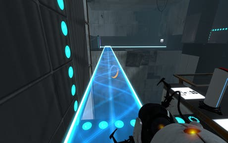 Puente de luz en Portal 2