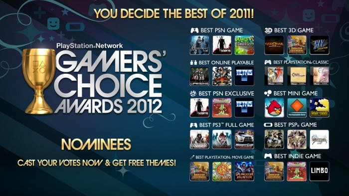 PSN Gamers Choice Awards 2012