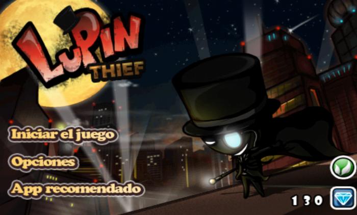Lupin El ladrón Pantalla de inicio