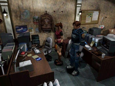 Los dos protagonistas de Resident Evil 2