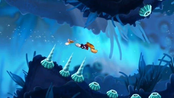 Rayman bajo del agua