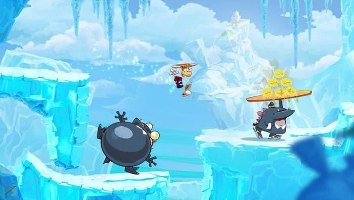 Matando enemigos en Rayman