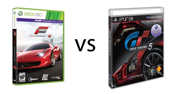 Comparativa entre Forza Motorsport 4 y Gran Turismo 5
