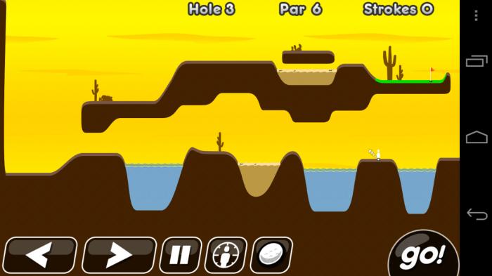 Súper Stickman Golf Escenario