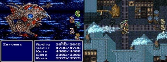 Final Fantasy IV a la izquierda y Final Fantasy VI a la derecha