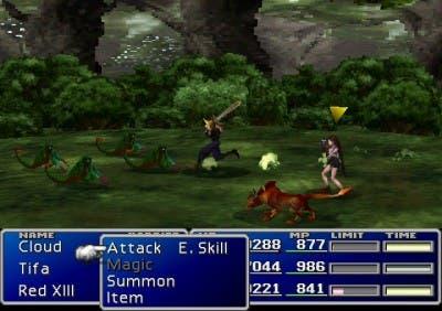 Una batalla en Final Fantasy VII