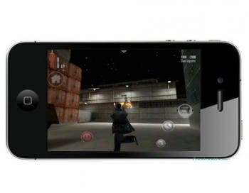 Jugando a Max Payne en el iPhone