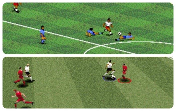 Gameplay comparativo FIFA 94 y PES 2001