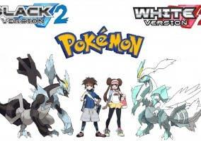 Los protagonistas del juego con Kyurem