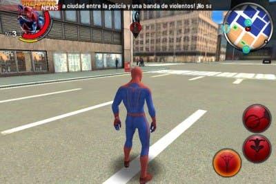 Imagen de los botones de Amazing Spiderman en iOS
