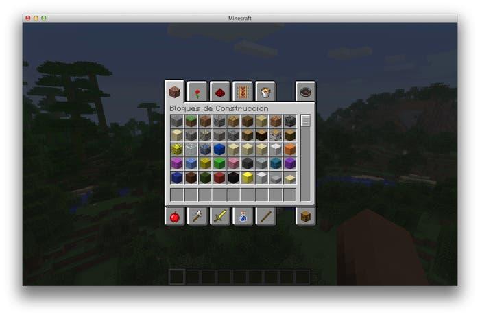 Nuevo inventario de Minecraft