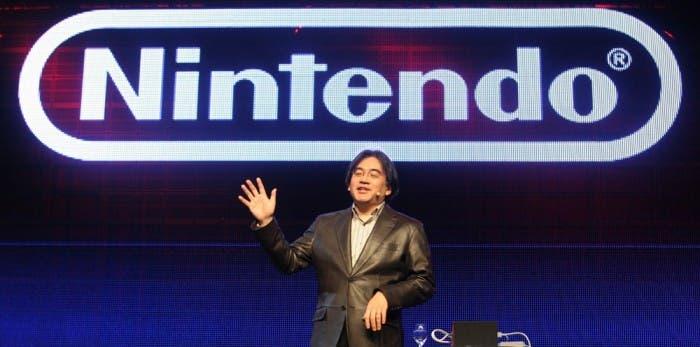 Iwata en una conferencia
