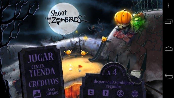 Shoot the Zombirds pantalla principal