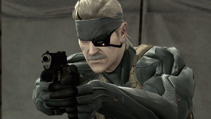 Solid Snake apuntando