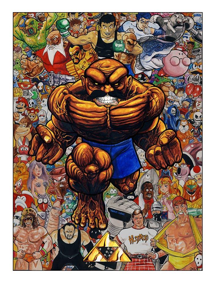 poster ilustrado abobo´s big adventure