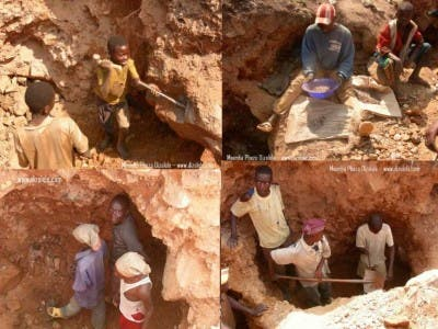 Manas de coltán en África