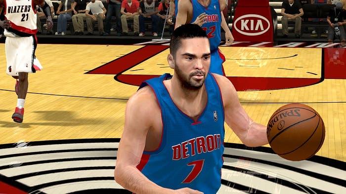 Partido en modo My Player con Navarro en los Pistons