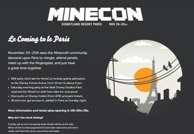 Página web de Minecon