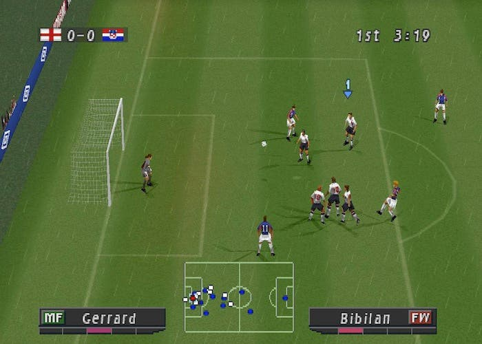 El primer PES de Playtation