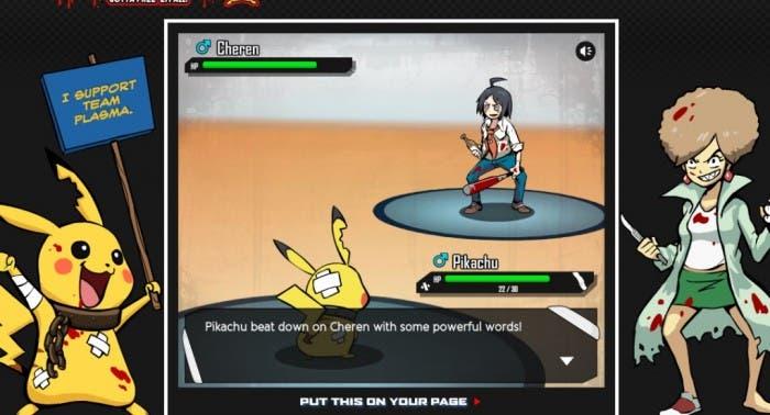 Pikachu utiliza palabras y argumentación para vencer a un entrenador yonki