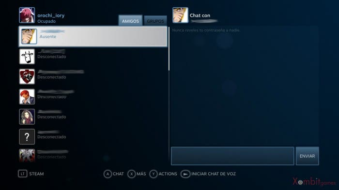 Captura Pantalla Amigos Big Picture Steam