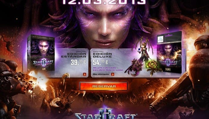 Starcraft II Heart of the Swarm Edición estandar y Deluxe