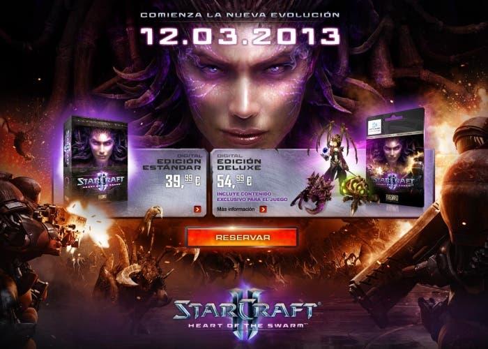 Starcraft II Heart of the Swarm Edición estandar y Deluxe