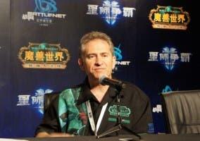 Mike Morhaime en una rueda de prensa