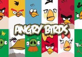 Personajes del videojuego de Angry Birds.