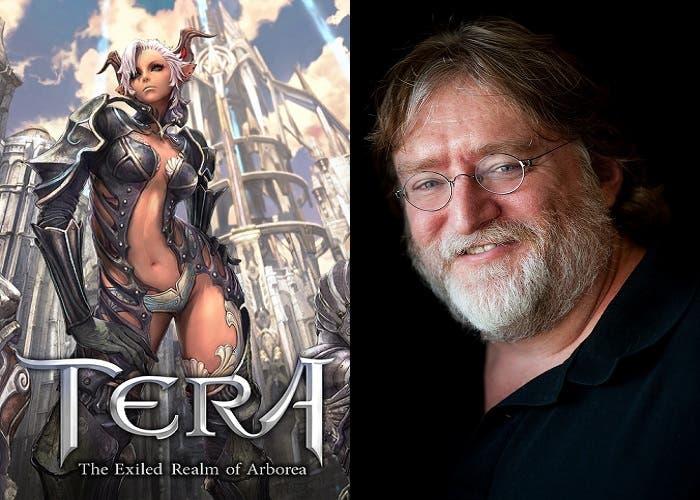 Tera y Gabe Newell