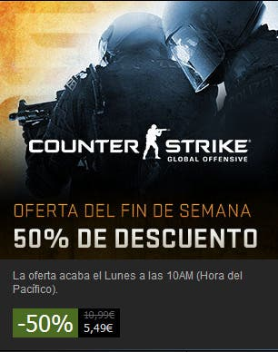Counter Strike Global offensive oferta en Steam
