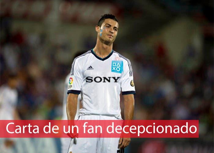 portada carta fan decepcionado, Cristiano Ronaldo llorando
