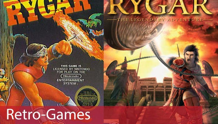 Portada Retro Games Rygar PS2 y NES