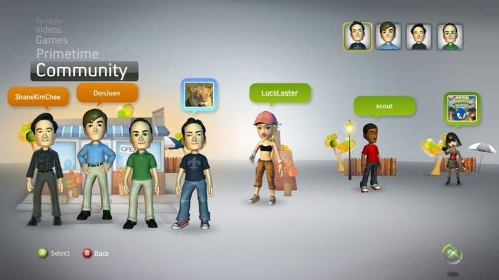 Amigos en Xbox LIVE