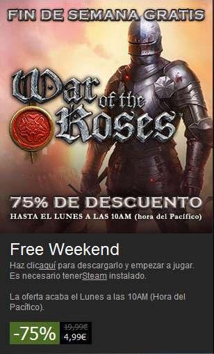 oferta steam de war of the roses 75%