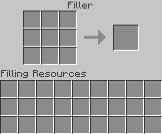 Interfaz Filler en Buildcraft