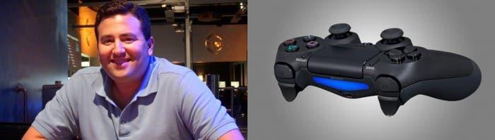 El mando de PS4 y Mark Rein