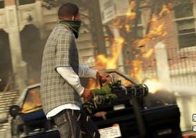 GTA V fuego y disparos