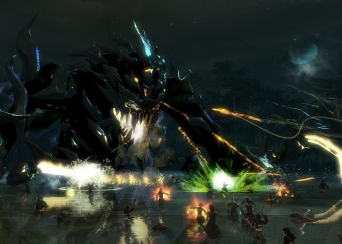 Guild Wars 2 batalla contra monstruo