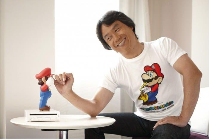 Mario la choca con Miyamoto