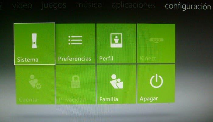 El dashboard de la Xbox 360