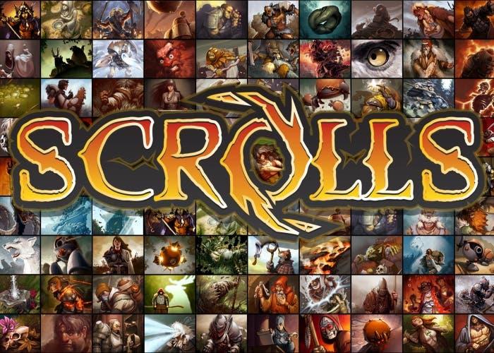Scrolls wallpaper