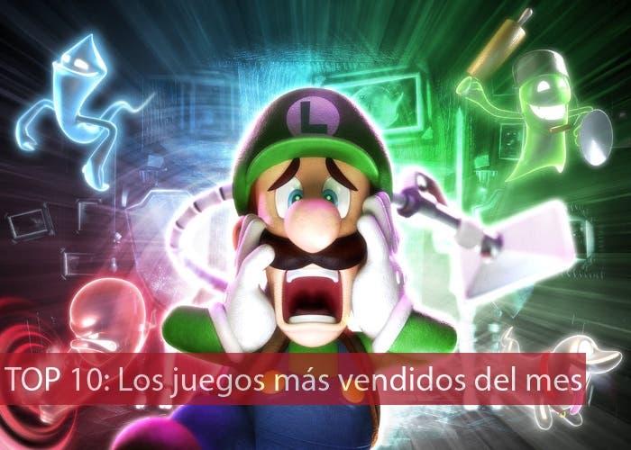 Top 10 los juegos más vendidos del mes Luigi's Mansion 2