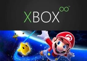 Logo de la nueva Xbox y Super Mario Galaxy