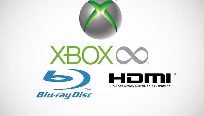 Logos de Xbox, Blu-ray y HDMI