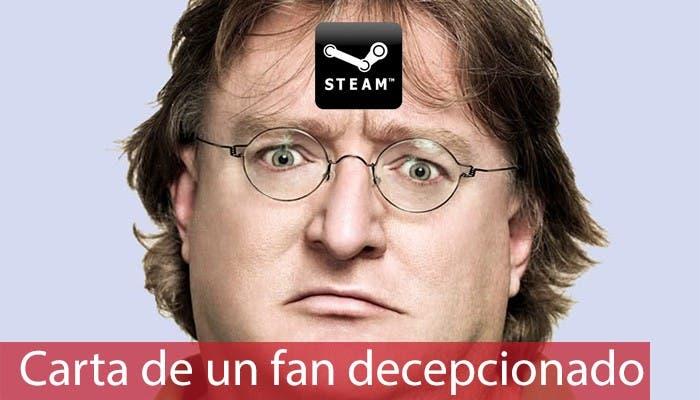 portada carta fan decepcionado con Steam