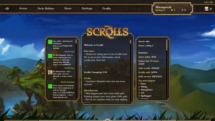 Scrolls - Inicio