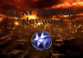 Logo de PSN en una tierra devastada
