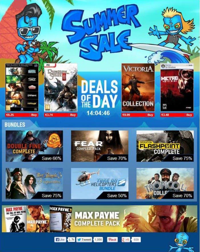 Rebajas GamersGate Verano 2013