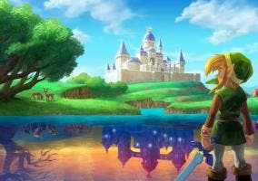 Lorule e Hyrule en A Link Between Worlds